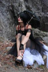 Stock 01 Girl in Gothic Black Dress