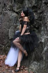 Stock 02 Girl in Gothic Black Dress