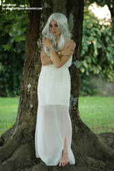 Stock woman in white dress 01