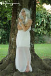 Stock woman in white dress 02