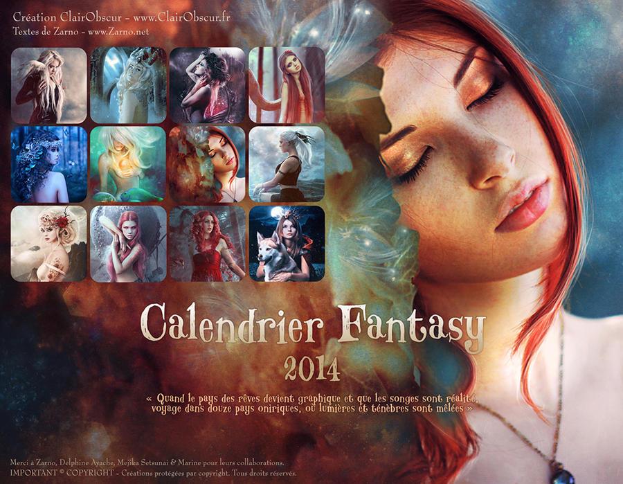 2014 FANTASY CALENDAR by clair0bscur