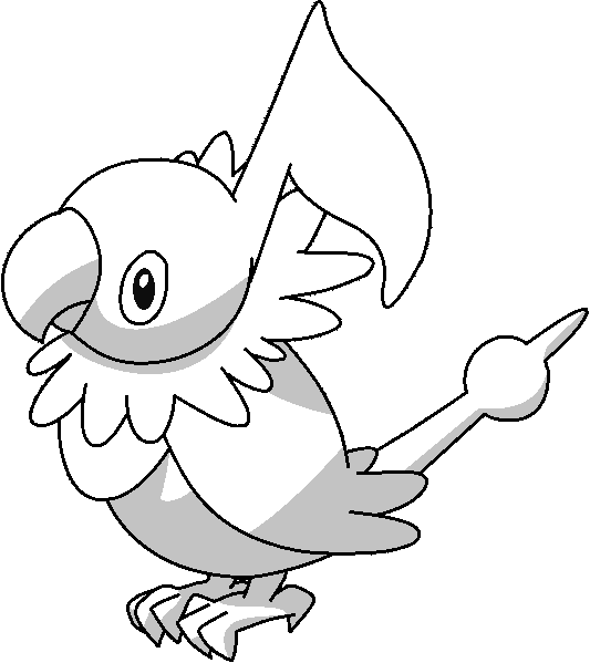 Chatot Lineart by kasanelover