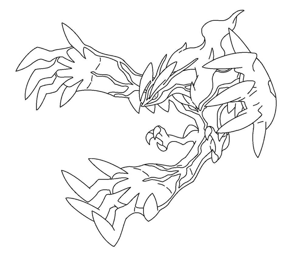 Kleurplaten Pokemon Yveltal Yveltal Lineart By Kasanelover On Deviantart