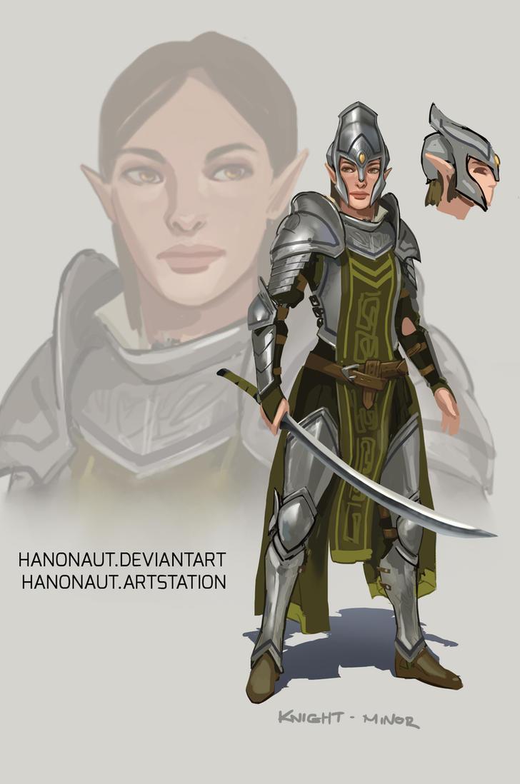 elven knight by hanonaut reasonablefantasy
