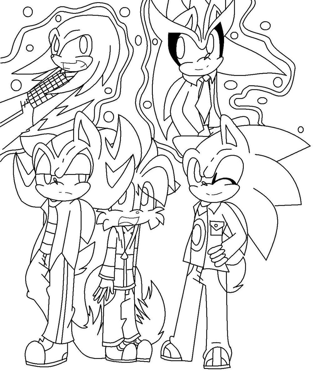 Line Art Creator : Sonic boys line art by mess creator on deviantart