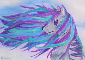 The Wind by KatiesPetPawtraits