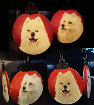 Samoyed Baubles by KatiesPetPawtraits
