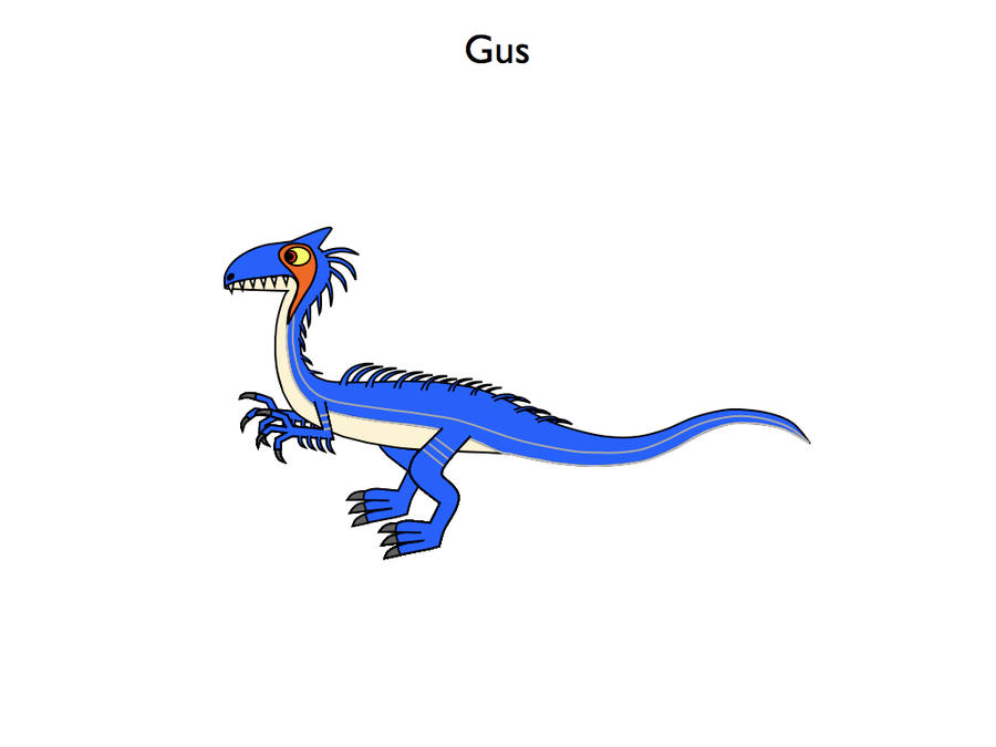 Gus the Guanlong by platypus12