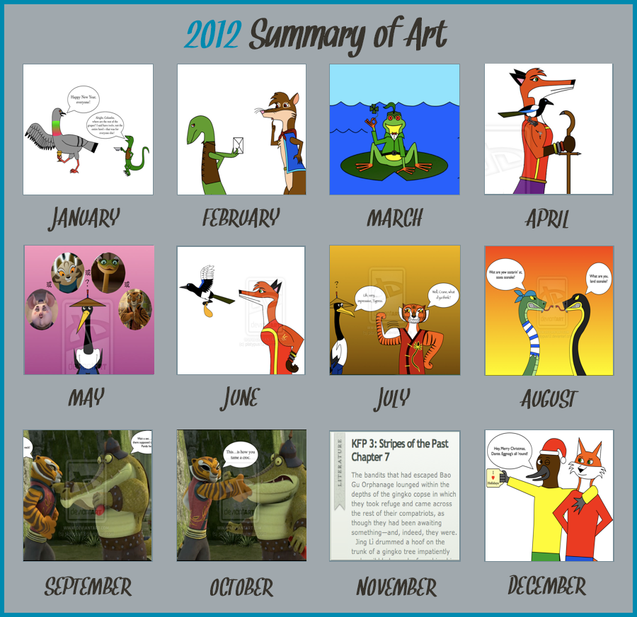 2012 Summary of Art by platypus12