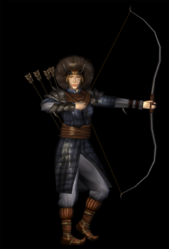 Female archer 3D model