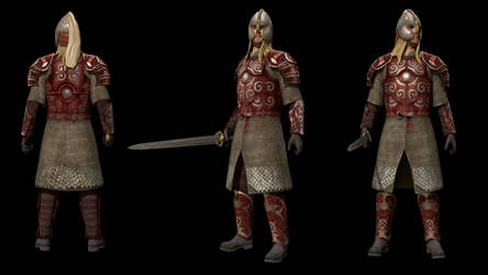 Eomer 3D model for Lord of the Rings game