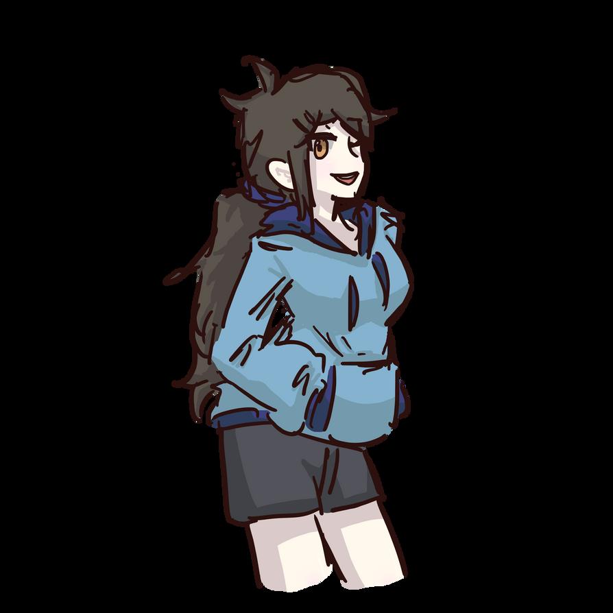 Anime Girl Sketch Thing By Unorganisedduck On Deviantart