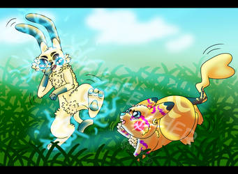 Catch Me if Ya Can Slowbro (Feral Event) by ScourgeFeather
