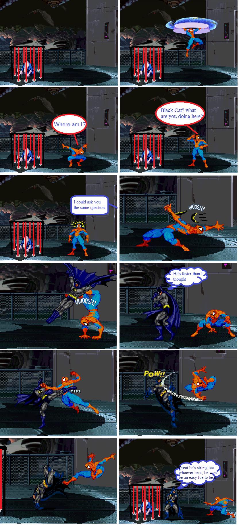 Superman vs batman vs spiderman