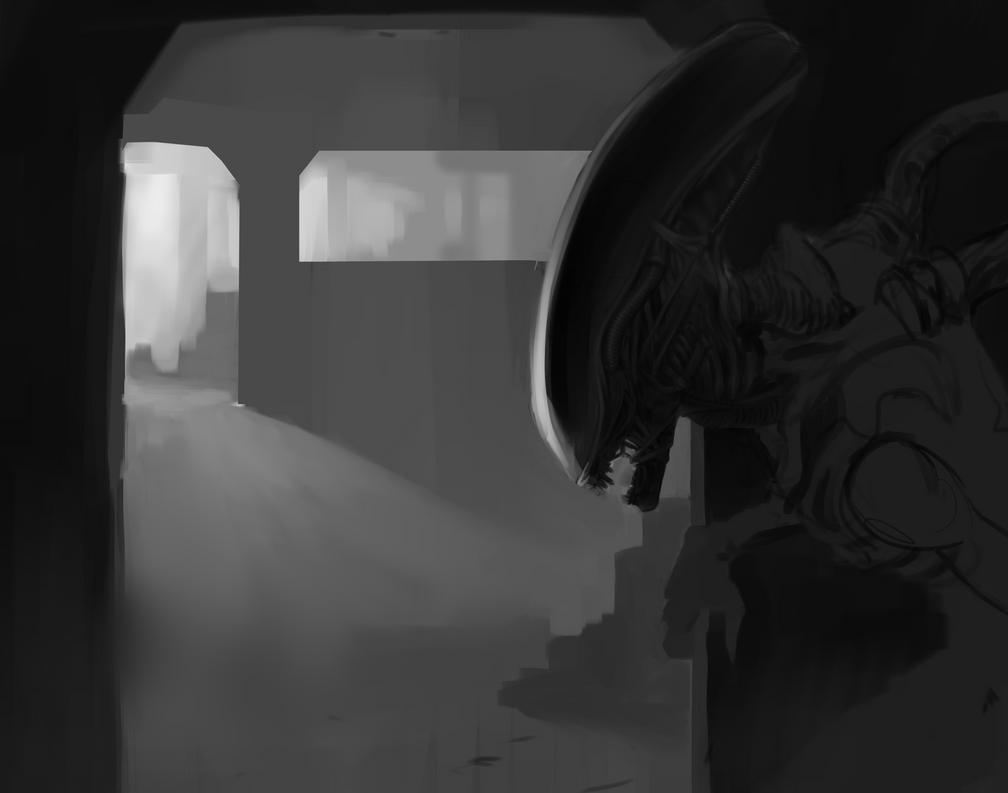 Alien WIP by jacobheeg