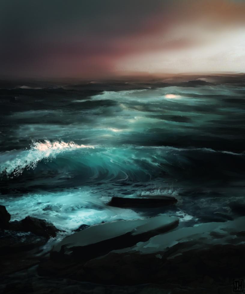 The sea calls me by jacobheeg