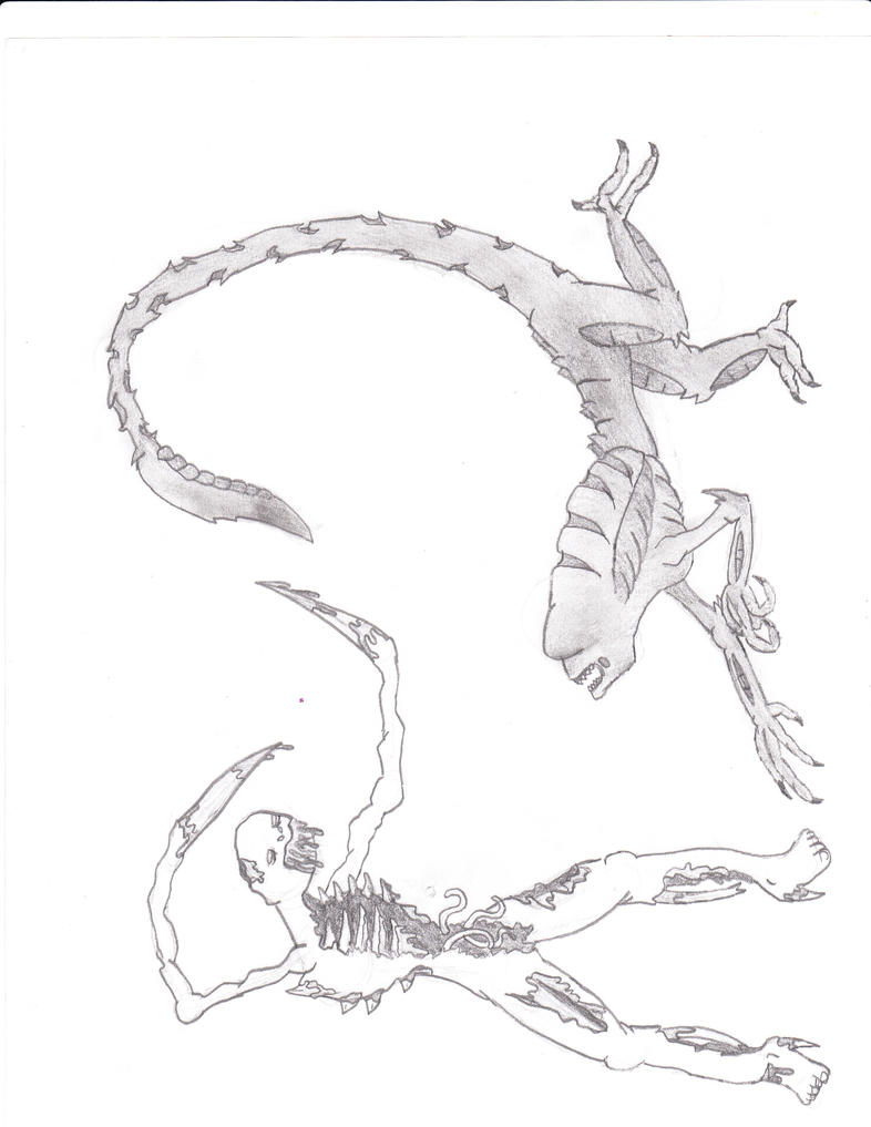 xenomorph vs necromorph-#15