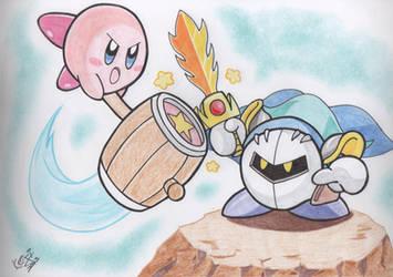 AT: Kirby vs Meta Knight by Keijisuke