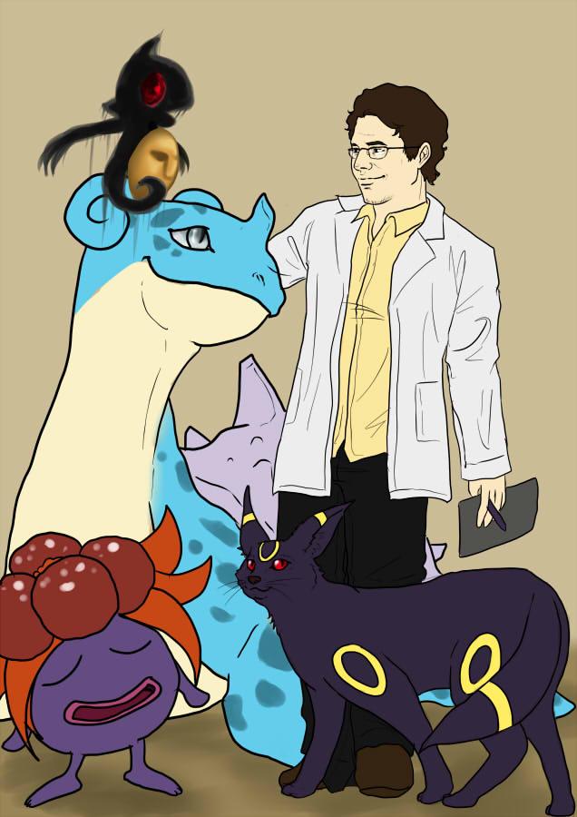 Bruce Banner, Pokemon Professor by Turtletamer42