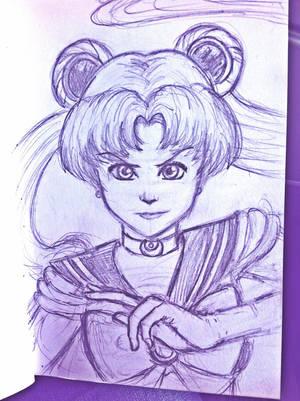 Sketchbook Scribbles: Sailor Moon WIP by Bella-Anima