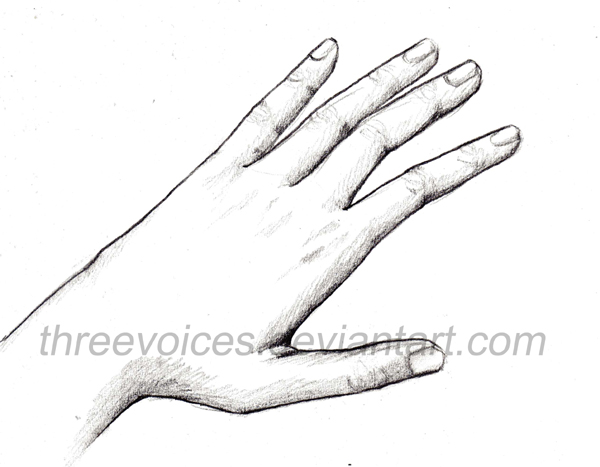 Hand drawing 1 by threevoices