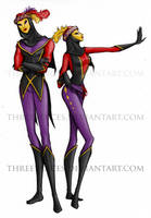 The Regal Dancers by threevoices