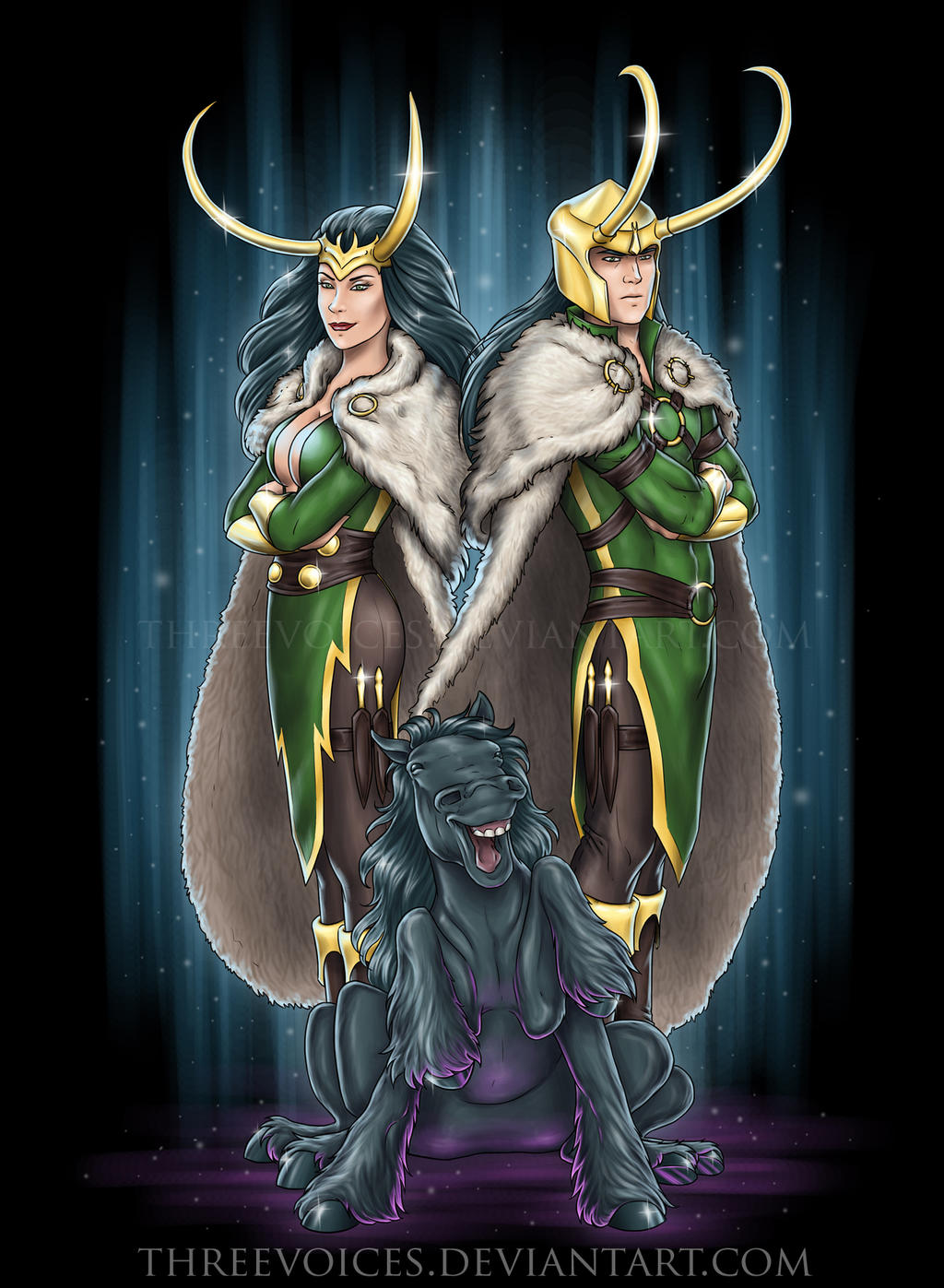 Loki, Loki, and Lokison by threevoices