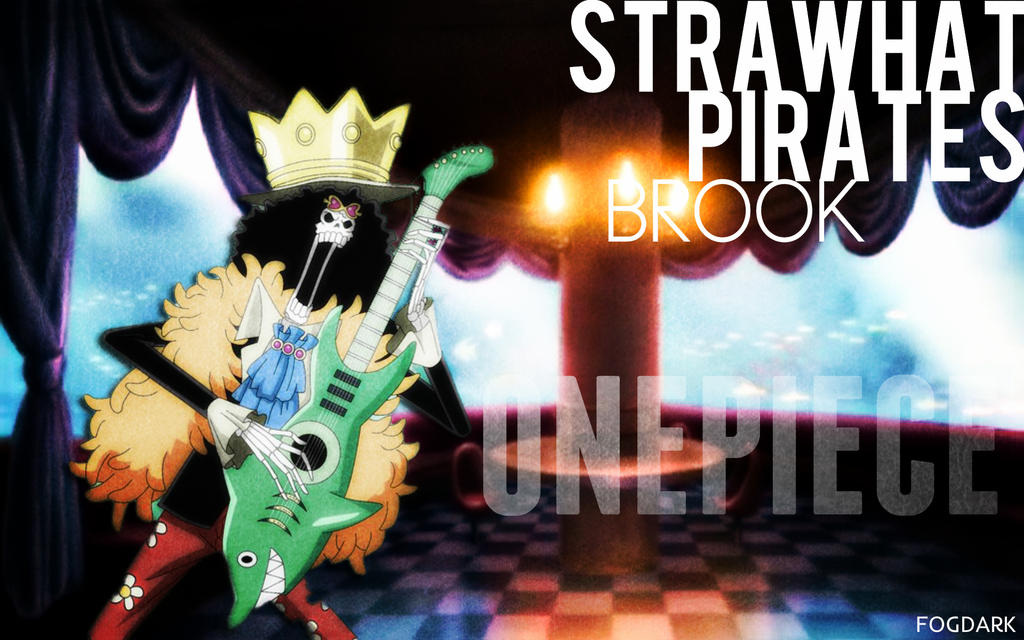 Straw Hat Pirates, Brook. by fogdark