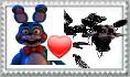 Toy bonnie x Mangle stamp by Larrydog123
