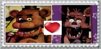 Foxy X Freddy stamp by Larrydog123