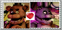 Freddy X bonnie stamp by Larrydog123