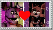Bonnie x Foxy stamp by Larrydog123