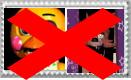 anti foxy x toy chica stamp by Larrydog123