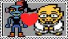 undyne x alphy stamp by Larrydog123