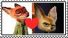 Nick x Finnick stamp by Larrydog123