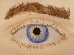 Eye in watercolour