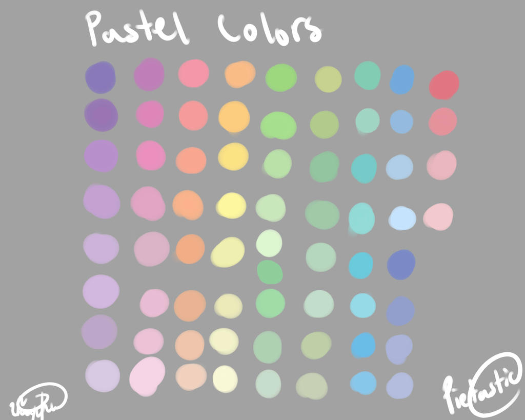 Pastel color palette by atisutomaria on deviantart - Pastell wandfarben palette ...