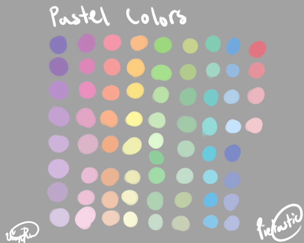 Pastel Color Palette by atisutomaria on DeviantArt
