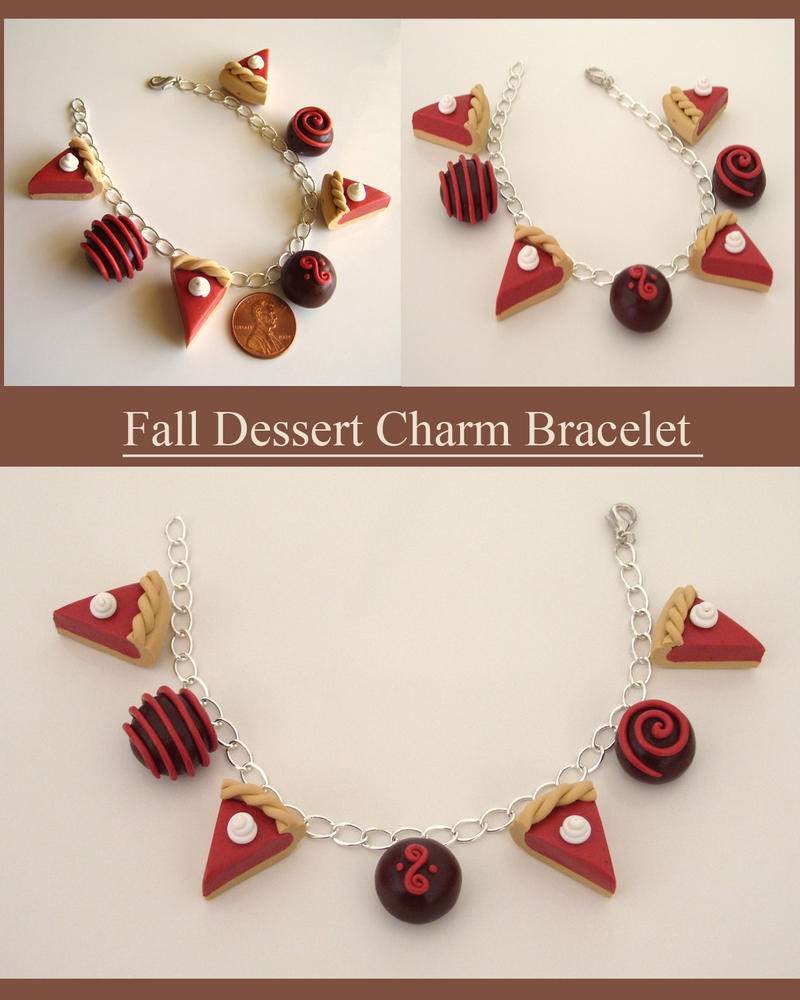 Fall Dessert Charm Bracelet by alternativeicandy