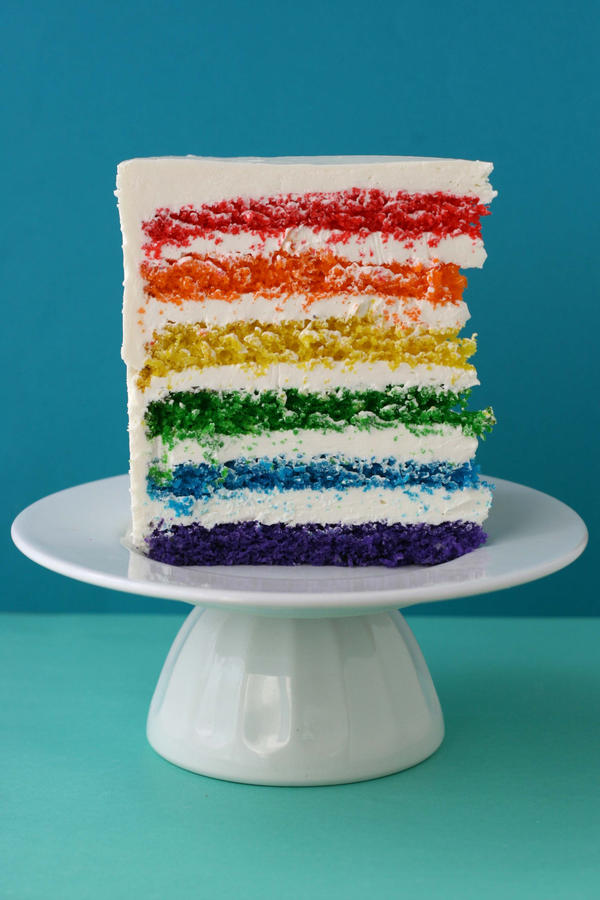 Say it with Cake - {Super Epic Rainbow Cake} - Whisk Kid