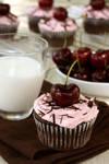 Chocolate Cherry Swirl Cupcake