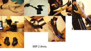 WIP 2 Monster Hunter  AKANTOR arm by okageo