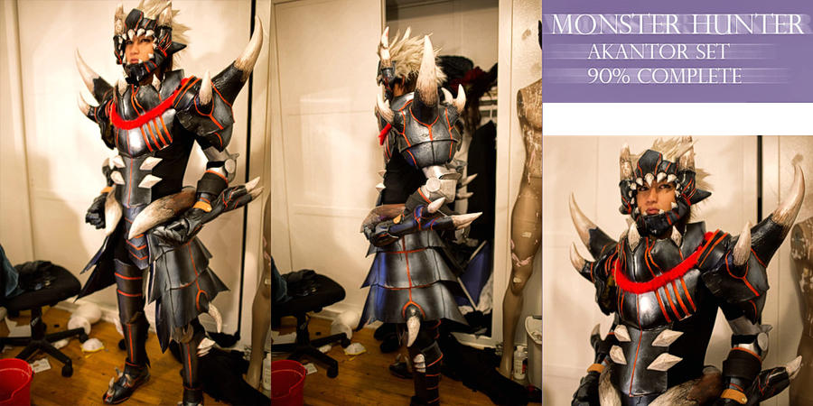 WIP Monster Hunter Akantor Set 90% by okageo