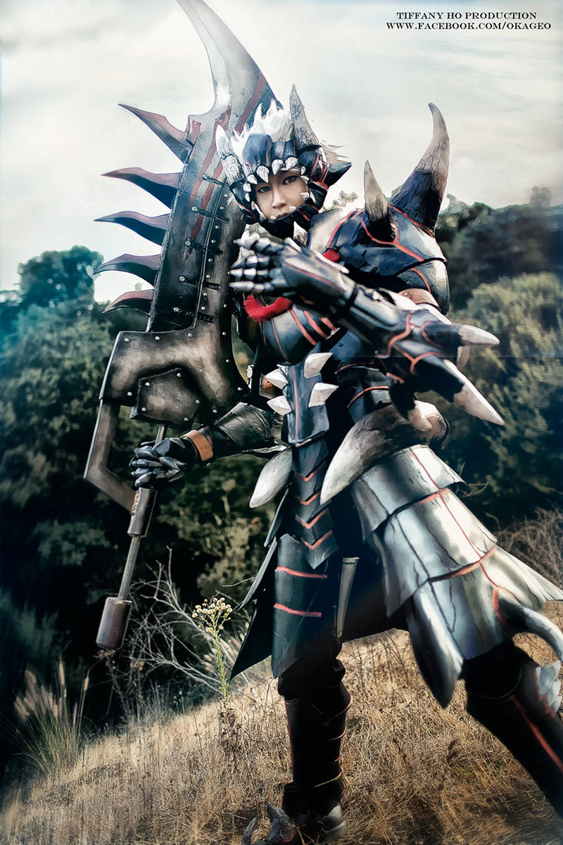 Monster Hunter Akantor armor by okageo