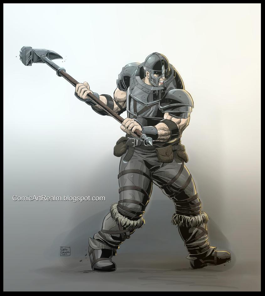 Commission Viking Battle Hammer by sektujai