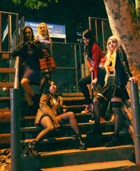 .:Sailor Scouts Gang:. 2 by Lenore-m0rt