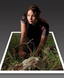 84fa82f8 dreamarzh24 1 0 Katniss Everdeen - 3D Pop-Out Photo Effect by dreamarzh24
