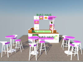 Booth Display [FrontView] #3D by dreamarzh24