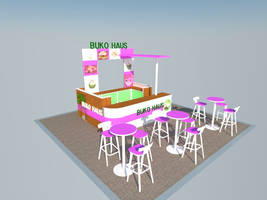 Booth Display [SideView] #3D by dreamarzh24