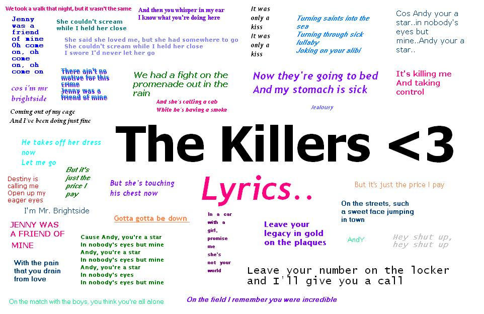 Lyric lyrics promise : Promise Me Shes Not Your World by the-killers-fan-club on DeviantArt
